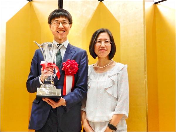 許家元的媽媽范麗娟特地從台灣飛抵日本祝賀。(駐日特派員林翠儀攝)