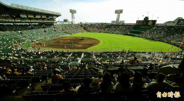 台灣球迷到日本甲子園遭圍毆,卻又遭PTT網友牽扯到駐日代表處。圖為日本甲子園球場。(資料照)