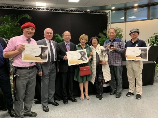 台灣發明人組團參加法國蒙貝列雷平發明展,獲2金、3銀、4銅,其中一面金牌為評審團特別獎,頒給可取代塑膠製品的甘蔗吸管。(中央社)
