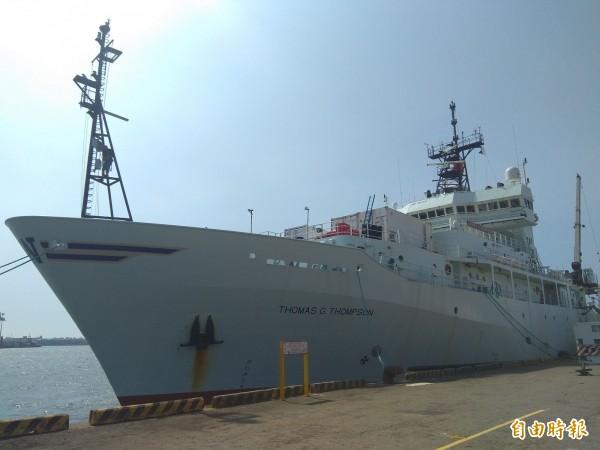 「湯瑪斯」號於今年4月首航高雄港。(記者洪定宏攝)