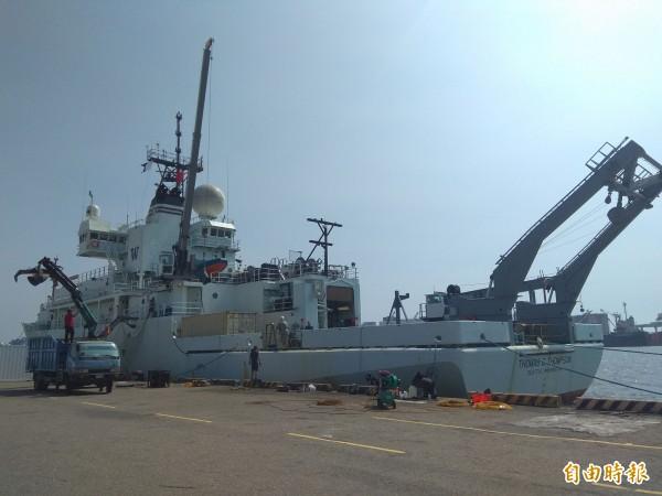 「湯瑪斯」號隸屬美國海軍研究室。(記者洪定宏攝)