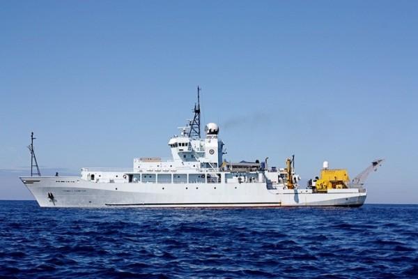 美國海軍研究辦公室(Office of Naval Research)科學研究船湯瑪斯號。(圖片是來自呂禮詩的臉書、原始檔案取自自interactive oceans網站)
