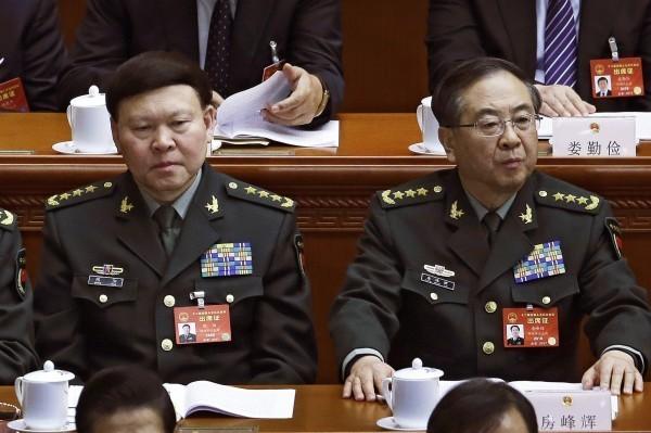中共今日開除張陽(左)、房峰輝(右)的黨籍。(美聯社)