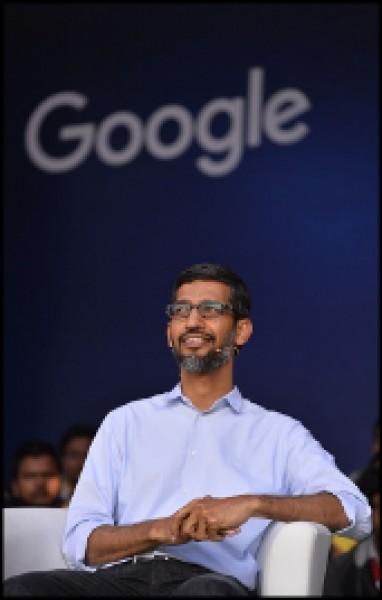 美國科技翹楚Google執行長皮查伊十五日首度坦承,正在研發一套可於中國運作的搜尋引擎。(法新社)