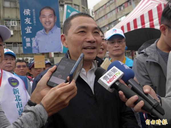 國民黨新北市長參選人侯友宜。(記者李雅雯攝)