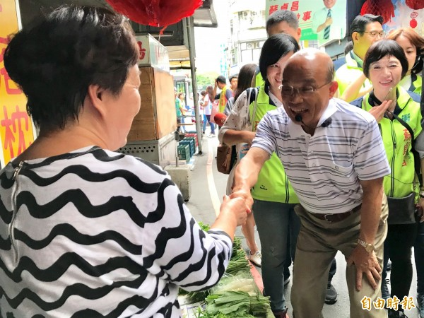 民進黨新北市長參選人蘇貞昌。(資料照,記者李雅雯攝)