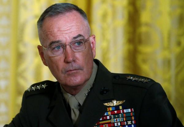 美軍參謀長聯席會議主席鄧福德提醒,切勿把打擊伊斯蘭國的進展當成勝利,他強調:「目前我們面臨的最大挑戰也許就是沾沾自喜的危險。」(路透)