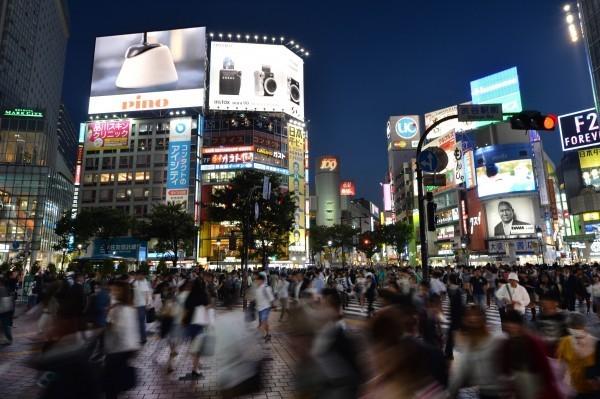 大多數德國麻疹病例均出現在東京等大都市。(法新社)