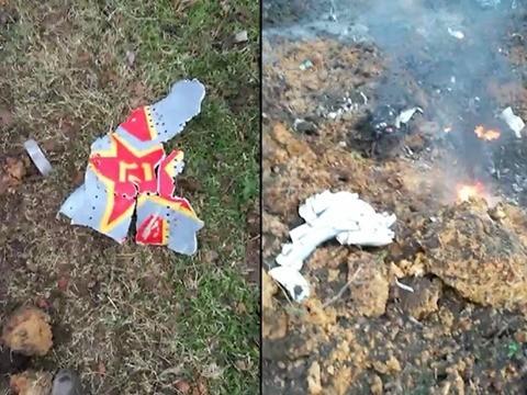 中國空軍一架殲-10S驚傳在廣東湛江的遂溪基地執行飛行訓練任務時墜毀,造成2人死亡。(圖擷取自微博)