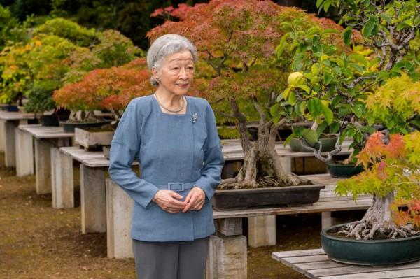 1966年10月起10年間,蘆田淳擔任當時還是皇太子妃的皇后美智子(圖)的專職設計師。(法新社)