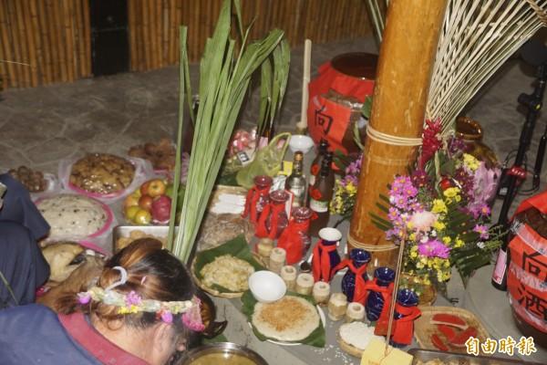 「小林大武壠族夜祭」今晚在小林里平埔文化園區小林公廨舉行。(記者黃佳琳攝)