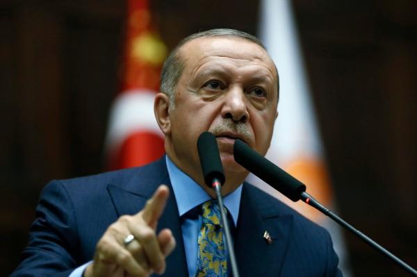 土耳其總統艾爾段今晚在國會發表「爆炸性演說」,直指華郵記者哈紹吉是被預謀殺害,他的死是一起「政治殺戮」。(法新社)