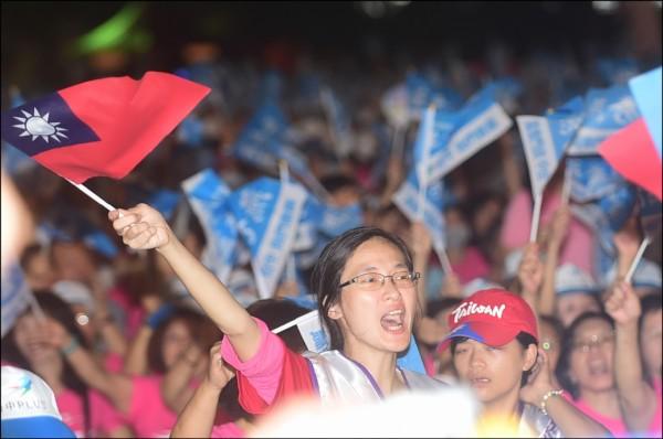 中國介入台灣選舉,黨政人士指出,現在國民黨沒有黨產了,中國接觸的對象和投入的資金,都比過去來得要多。圖為國民黨造勢情形。(資料照)