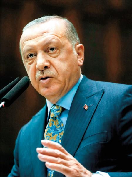 土耳其總統艾多根二十三日在國會公布哈紹吉案相關調查結果,並要求引渡十八名沙國凶嫌至伊斯坦堡審判。(法新社)