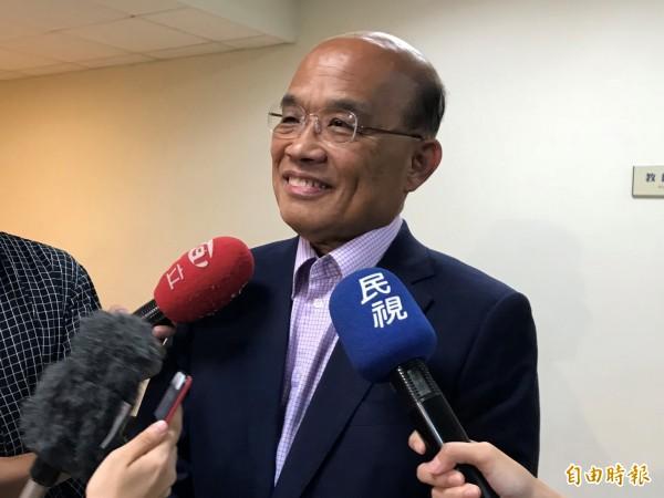 民進黨新北市長候選人蘇貞昌。(記者李雅雯攝)