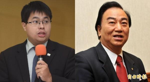 律師黃帝穎(左)發現性侵犯馮滬祥(右)在雜誌社擔任總顧問。(資料照)