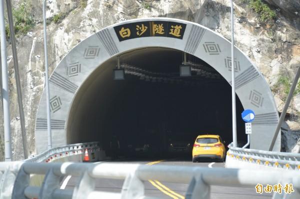 中橫白沙隧道預計10月底通車。(記者王峻祺攝)