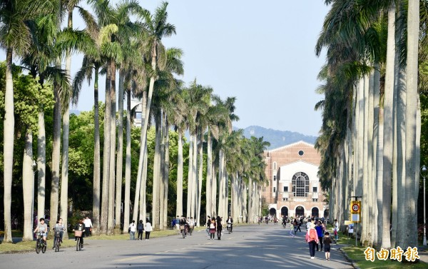 英國高等教育調查公司「QS(Quacquarelli Symonds)」公布2019年500間亞洲地區大學的排名,台灣大學奪下第22名。(資料照)