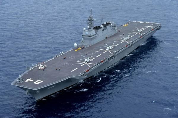 日本海上自衛隊直升機護衛艦「加賀號」。(歐新社)