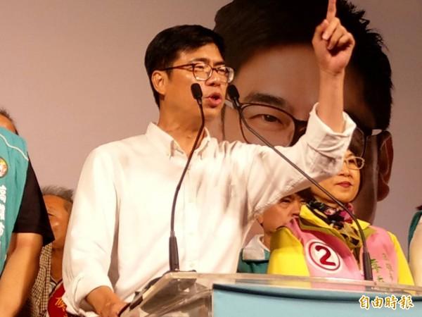 陳其邁批韓國瑜不是所謂的「韓流」,而是抹黑的黑潮!(記者方志賢攝)