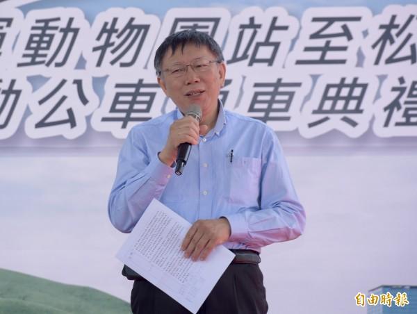 台北市長柯文哲夫人陳佩琪昨在臉書發文批評三立電視台,柯文哲今早受訪坦言確實可能造成反效果。(記者黃耀徵攝)
