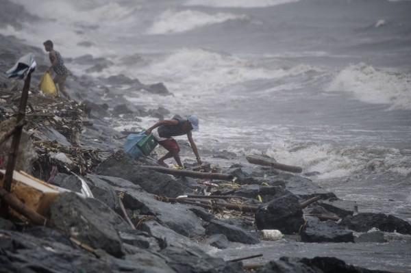 玉兔颱風肆虐菲律賓。(法新社)