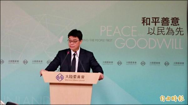 陸委會副主委邱垂正昨表示,民調顯示,多數國人認為領用中國居住證民眾須申報,也支持政府採取管理作為。(記者鍾麗華攝)