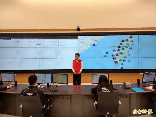 公總運管大樓今啟用,遊覽車GPS訊號都會回傳至運管大樓行控中心。(記者鄭瑋奇攝)
