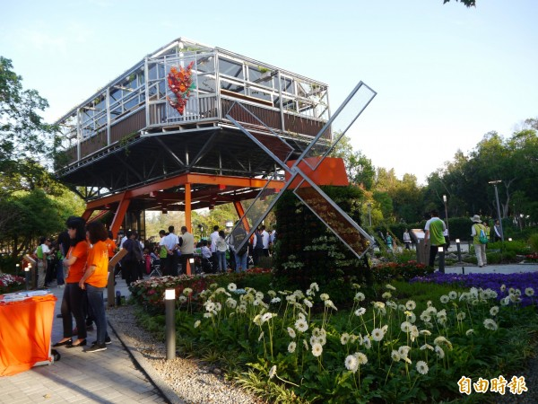 花博后里森林園區荷蘭館開幕。(記者張軒哲攝)