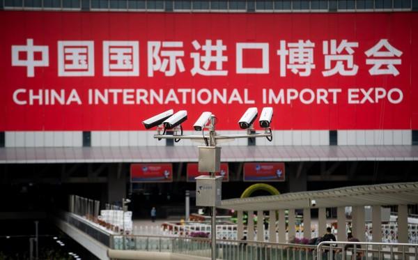 中國國際進口博覽會後天在上海開幕,外界關注度有限。(法新社)