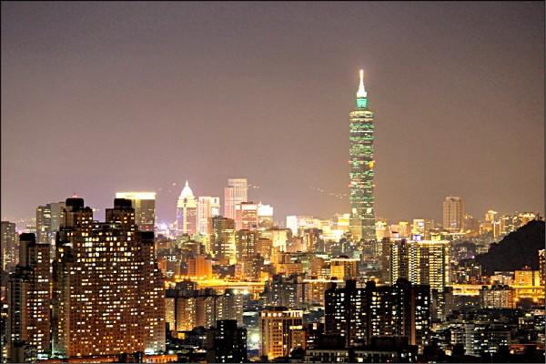 新北市中和區的烘爐地可看到101,是大台北熱門的賞夜景地點。(資料照)