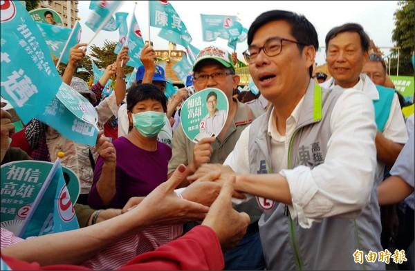 民進黨高雄市長候選人陳其邁。(記者陳文嬋攝)