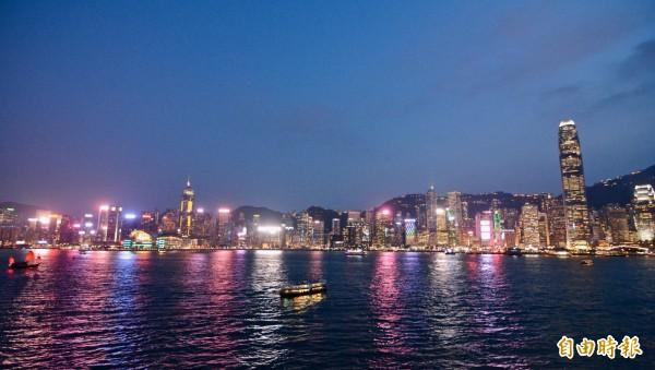 民調指出,有45%的香港青年不認同自己的中國人身分。圖為香港。(資料照)