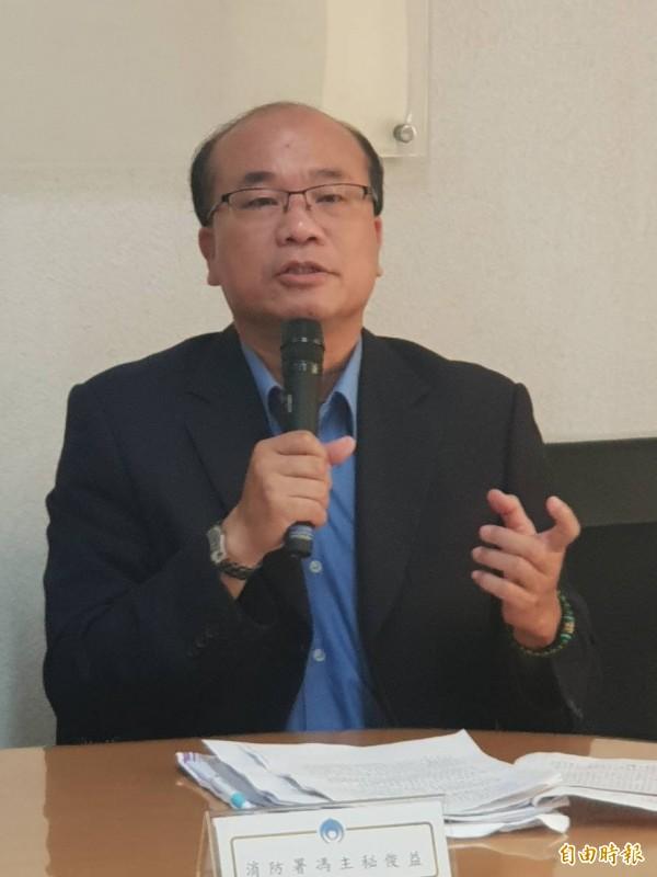 消防署主秘馮俊益呼籲民眾,把救護資源留給有需要的人。(記者李欣芳攝)