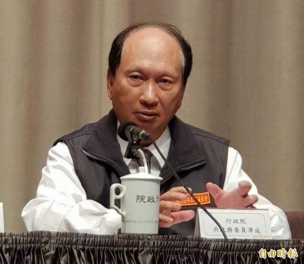 行政院政務委員吳澤成邀集普悠瑪製造日商釐清問題。(資料照,記者李欣芳攝)
