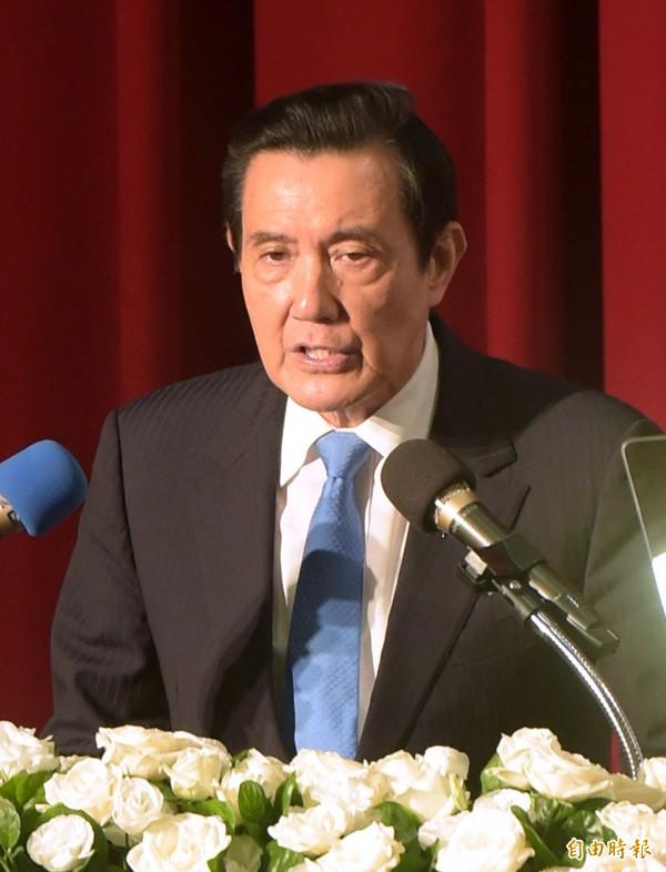 前總統馬英九7日出席「馬習會三周年:兩岸關係何去何從」政策研討會。(記者黃耀徵攝)