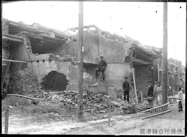 鹿港不見天街第一進拆除情況。(鹿港鎮公所提供)