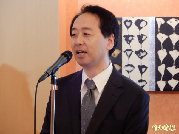 日本知名的動畫大師小幡公春稱讚台灣學生很認真熱心。(記者林翠儀攝)