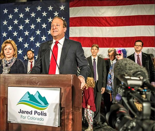 民主黨科羅拉多州州長當選人波利斯,成為美國史上首位出櫃男同志當選州長。(路透)