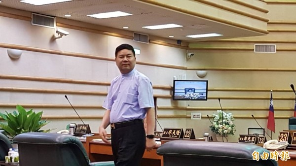嘉義市副議長郭明賓傳涉賄選案,本月6日已前往中國。(記者丁偉杰攝)