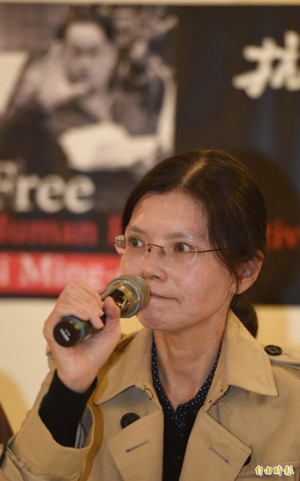 李凈瑜2次申請赴中探監都遭拒絕。(記者劉信德攝)