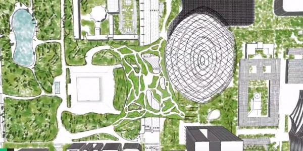 東區大公園連接國父紀念館和大巨蛋。(圖擷自YouTube)