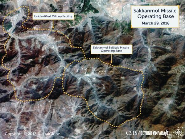 美智庫公布衛星圖,稱北韓有13處未公布的導彈基地。(路透)