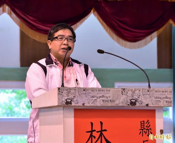 無黨籍宜蘭縣長候選人林錦坤。(記者張議晨攝)