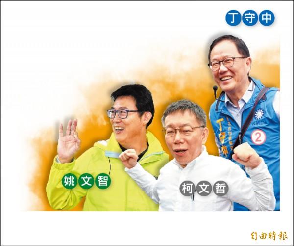 隨著投票日逼近,台北市長選戰白熱化,「棄保說」開始發酵。(記者劉信德、羅沛德、簡惠茹攝)