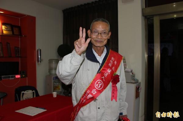 無黨籍彰化縣長候選人白雅燦,今天參加電視公辦政見會。(記者張聰秋攝)