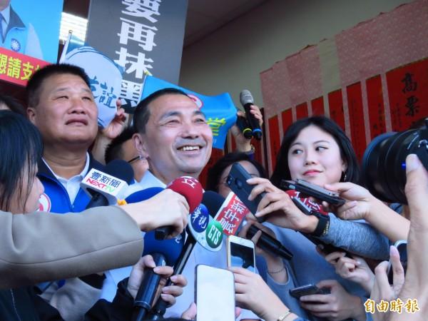 國民黨新北市長候選人侯友宜。(記者陳心瑜攝)