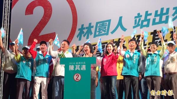 總統府祕書長陳菊暗諷韓國瑜到高雄「到此一遊」。(記者洪臣宏攝)