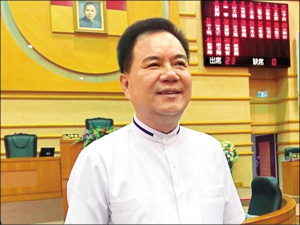 嘉市副議長郭明賓被控賄選,議會為郭張開「保護傘」。(記者王善嬿攝)