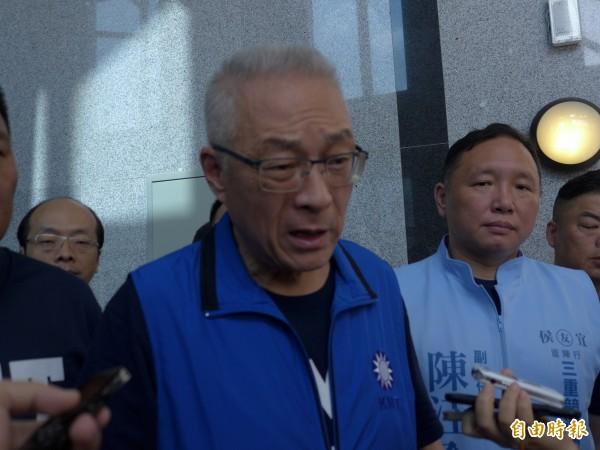 國民黨主席吳敦義。(資料照,記者李雅雯攝)